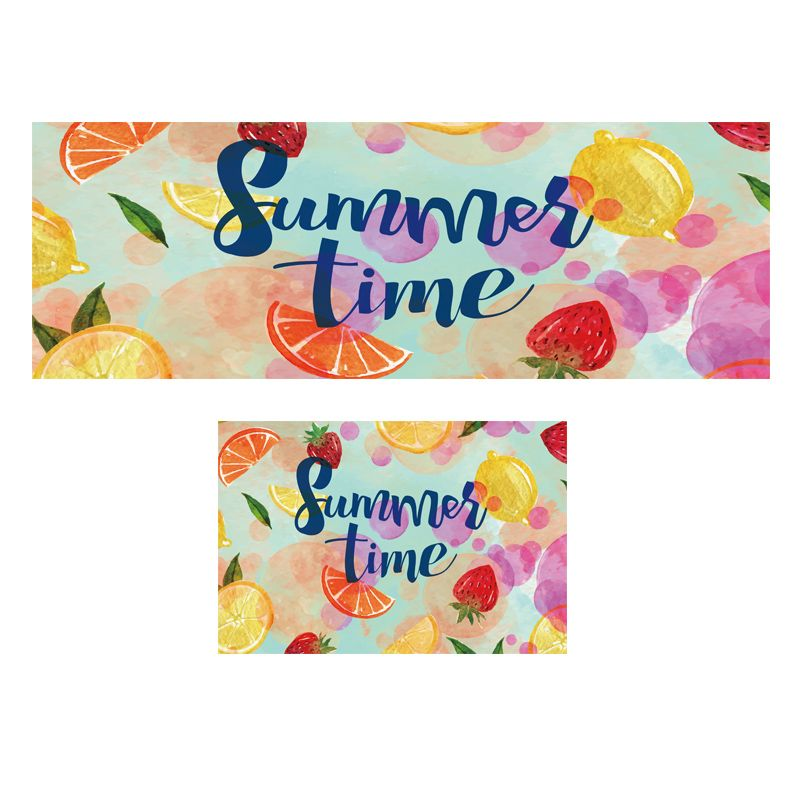 Winlife Colorful Fruit Pattern Rugs Home Mats Entrance Doormat Non