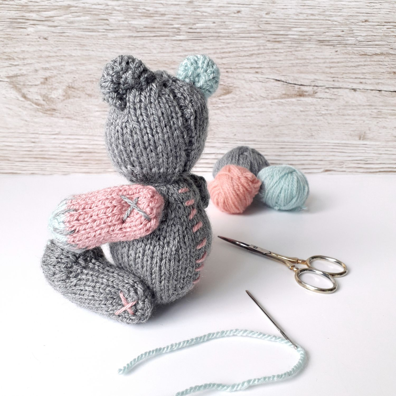 Well-Loved Teddy Knitting pattern by Claire Fairall ...
