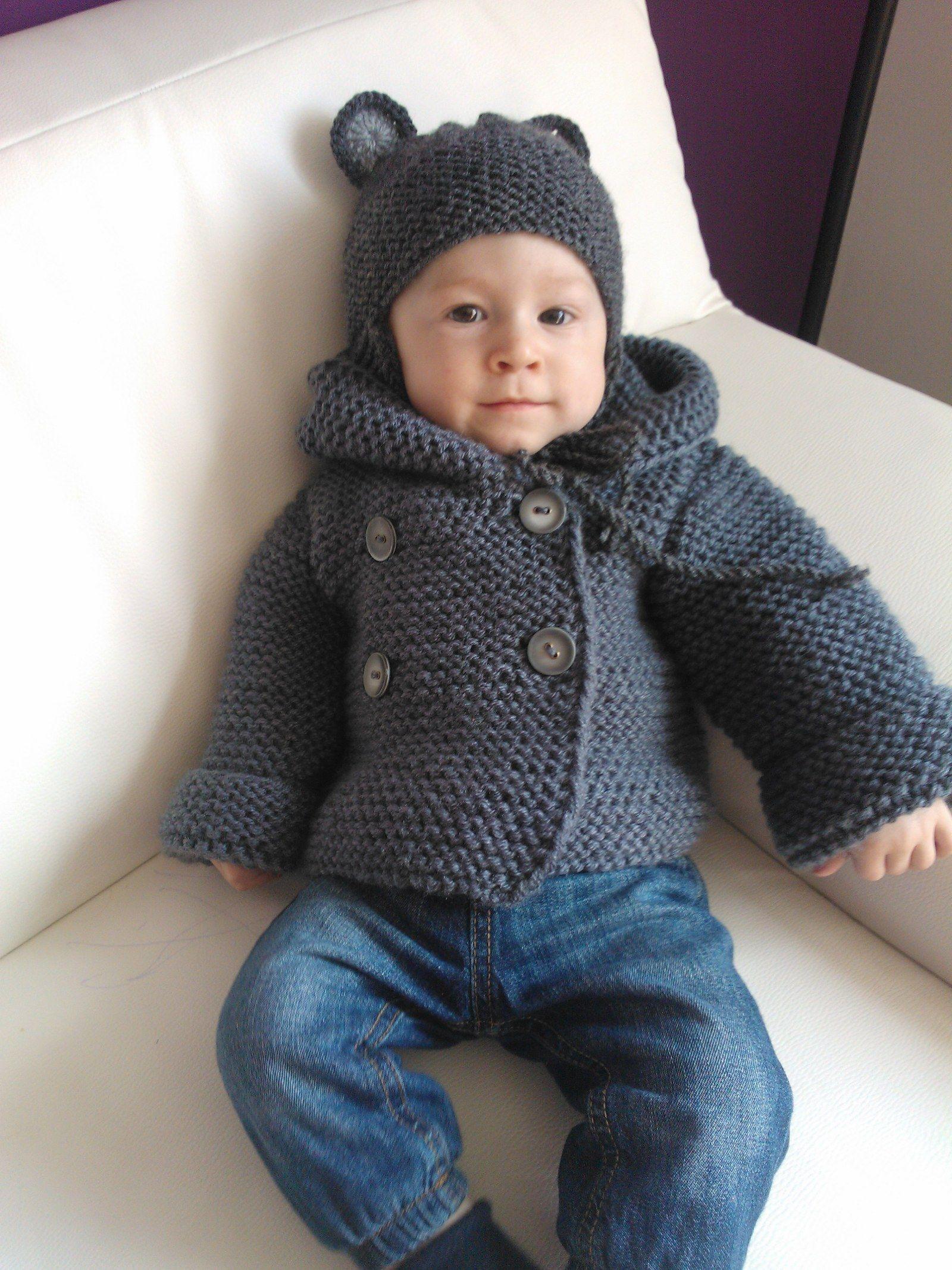 1de826fc9 Dětský svetřík tm.šedý Dětský svetřík -nebo spíš kabátek-je pletený ...