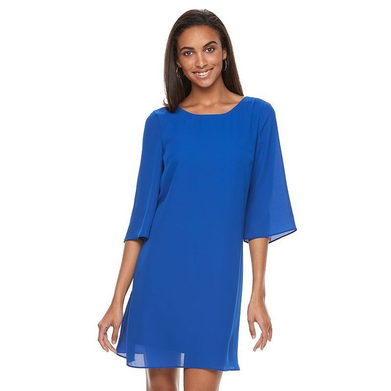 Women's Apt. 9® Strappy Cutout Shift Dress, Blue