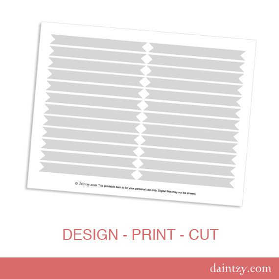 Instant Download Drinking Straw Flag Printable Template  Diy