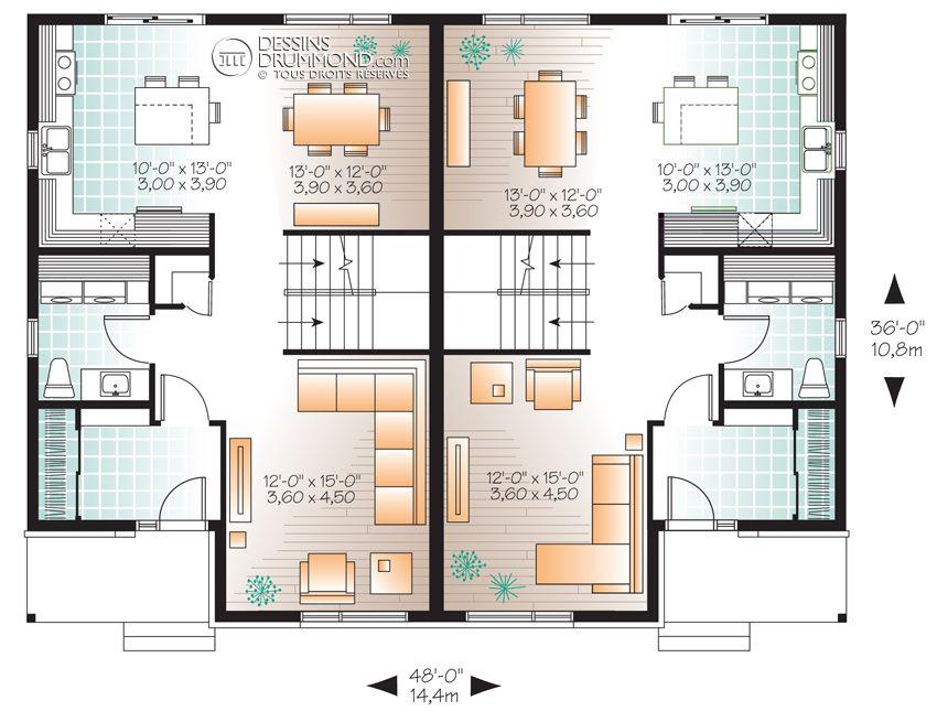 Zen / Contemporain, Jumelés  Bi-Génération W3060 Maison Laprise