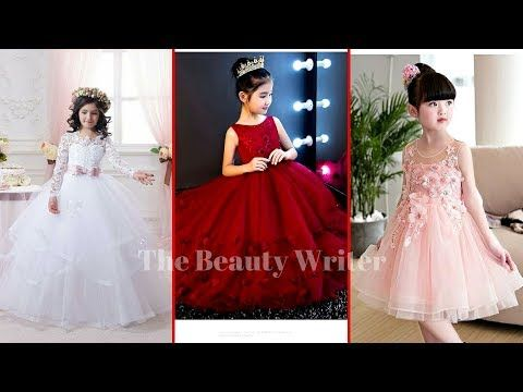 f77e31a519dc Kid's Princess Style frock Dresses 2017 - Latest Kids Party Wear Dress  Collection - YouTube