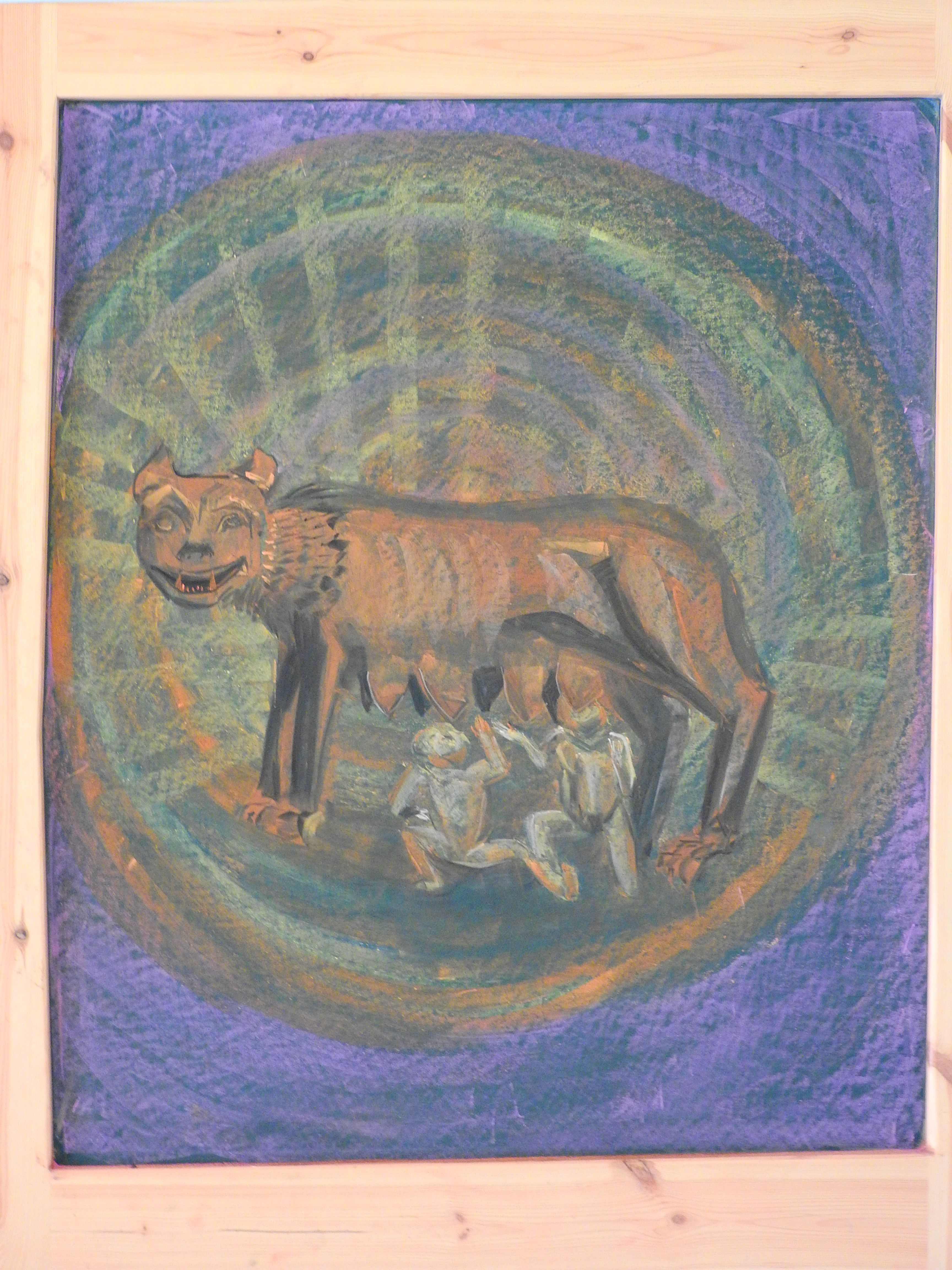 Romulus And Remus 6th Grade Chalkboard Drawing