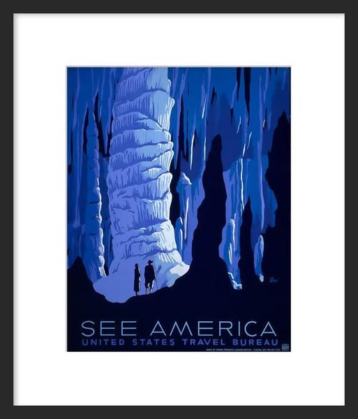See America poster (Blue Cavern)