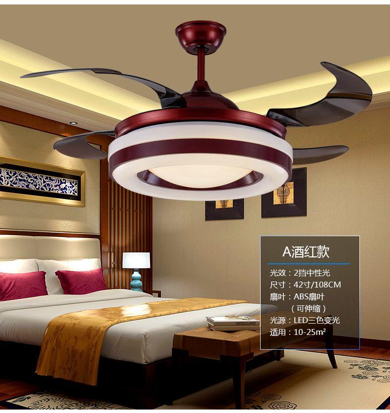 Chinese Chandelier Fan Dining Room Living Bedroom Light 110240V Fans