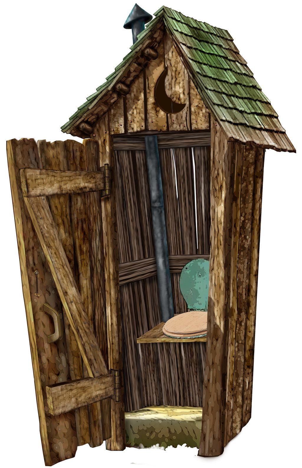 Outhouse By Marcgosselin Outhouse Art Pinterest