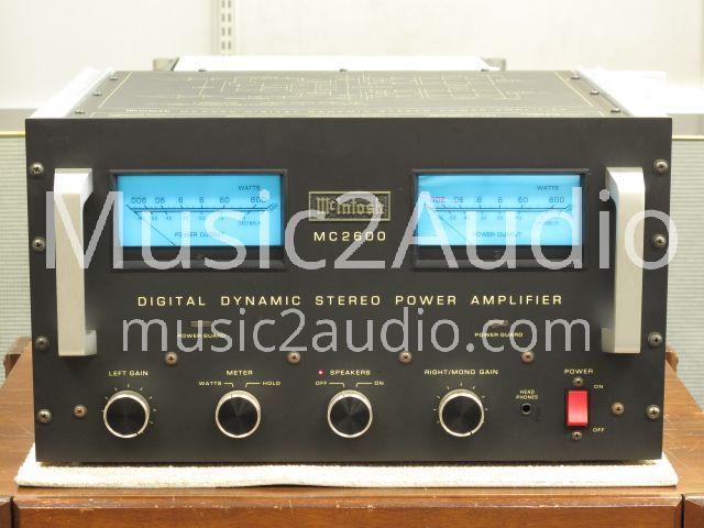McIntosh MC2600 Power Amp For Sale (€ 1,370 EUR) | Music2Audio | Premium used audio equipment