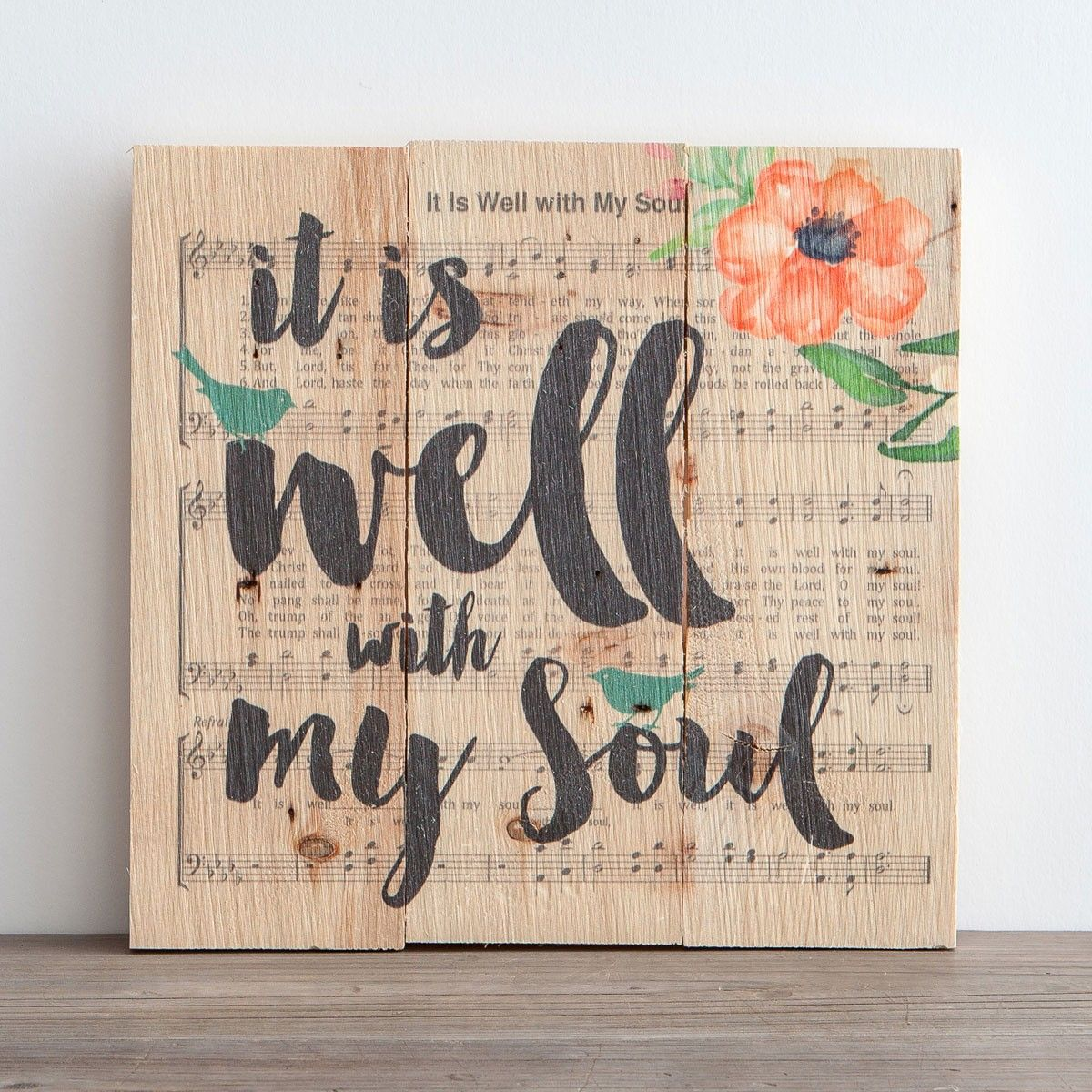 It Is Well With My Soul Plank Wall Art Planked Wall Art Hymnal Crafts Hymn Art