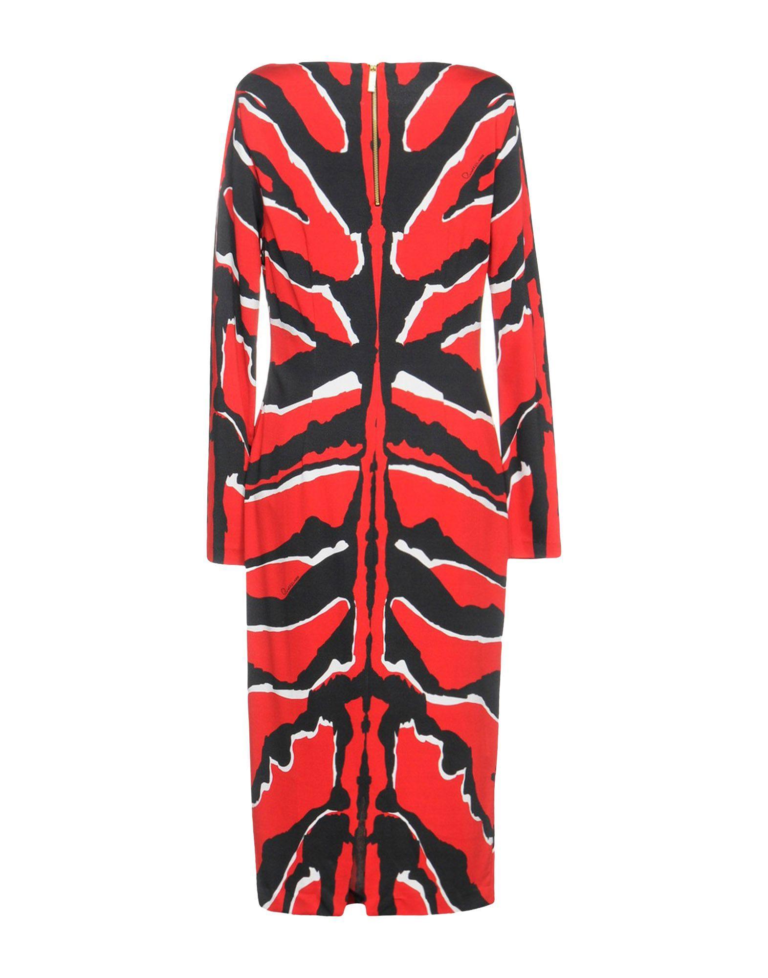 Class roberto cavalli length dress red us size pinterest