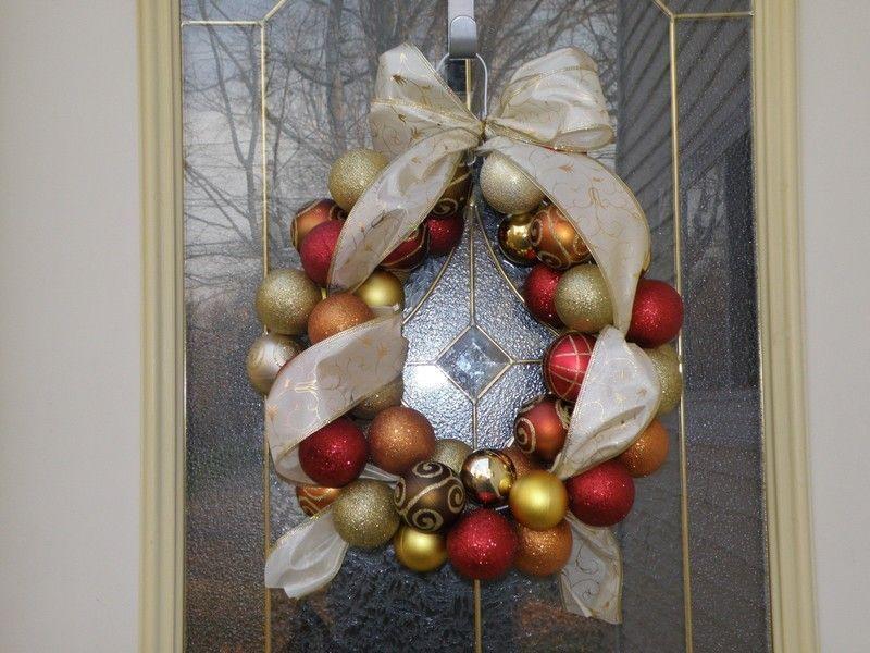 Beautiful Ornament Wreath #baublewreath