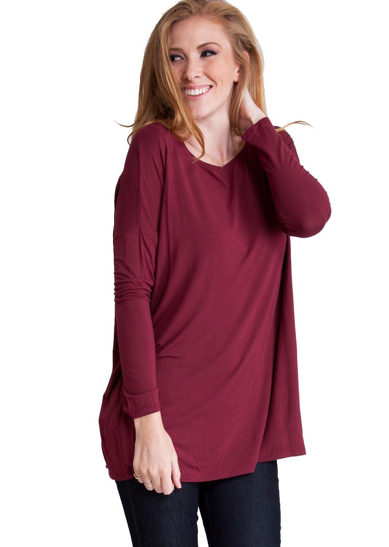 Bamboo fiber long sleeve dolman top tbbg clothing clothes
