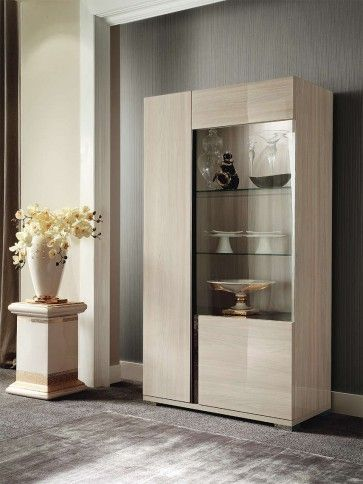 Teodora Two Door Curio Alf Da Fre Crockery Cabinet Design Modern Dining Furniture Crockery Unit Design