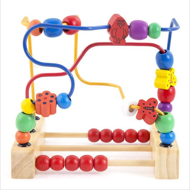Baby Toy Wooden Toy Wooden Bead Maze Child Beads Wooden Toys