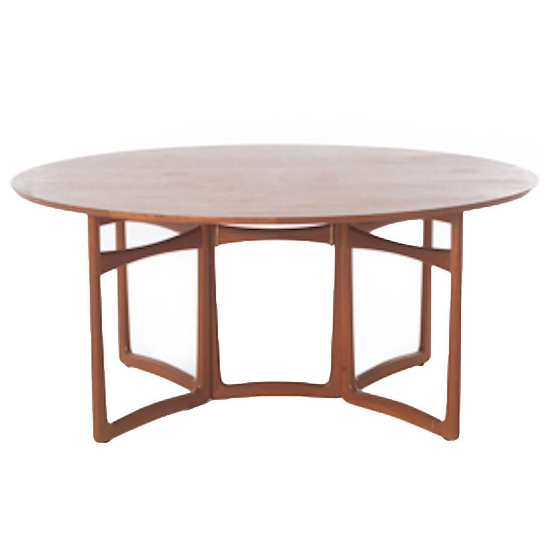 Vintage Danish Modern Teak Gateleg Table  Dining Room Table Teak Gorgeous Danish Modern Dining Room Inspiration