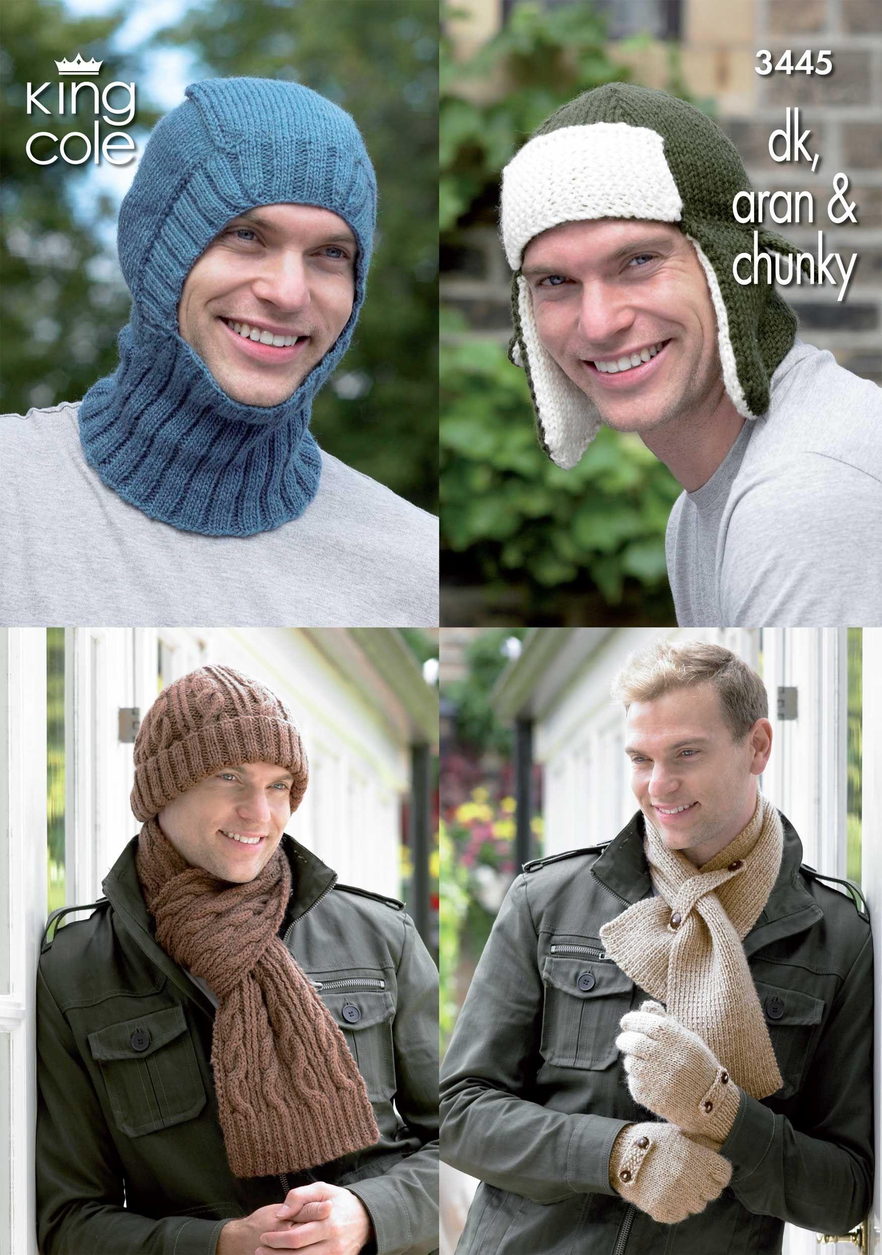 Mens gloves knitting pattern - Man S Knitted Hat Pattern 3445 Knitting Pattern Men S Hat S Balaclava Scarves