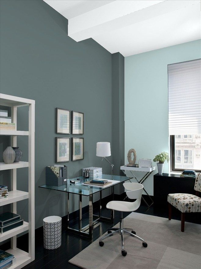 The Best Gray Paint Shades By Benjamin Moore Gray Home Offices
