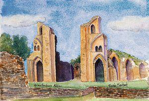 Glastonbury Painting - Glastonbury Abbey by Renee Chastant