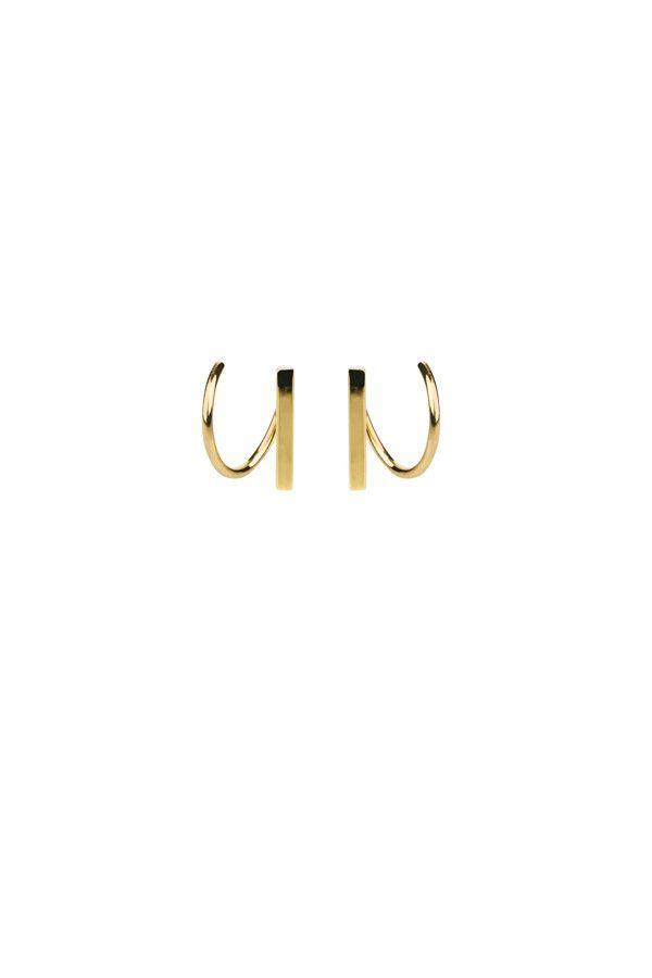 SANAE TWIRL EARRING - HIGH POLISHED GOLD