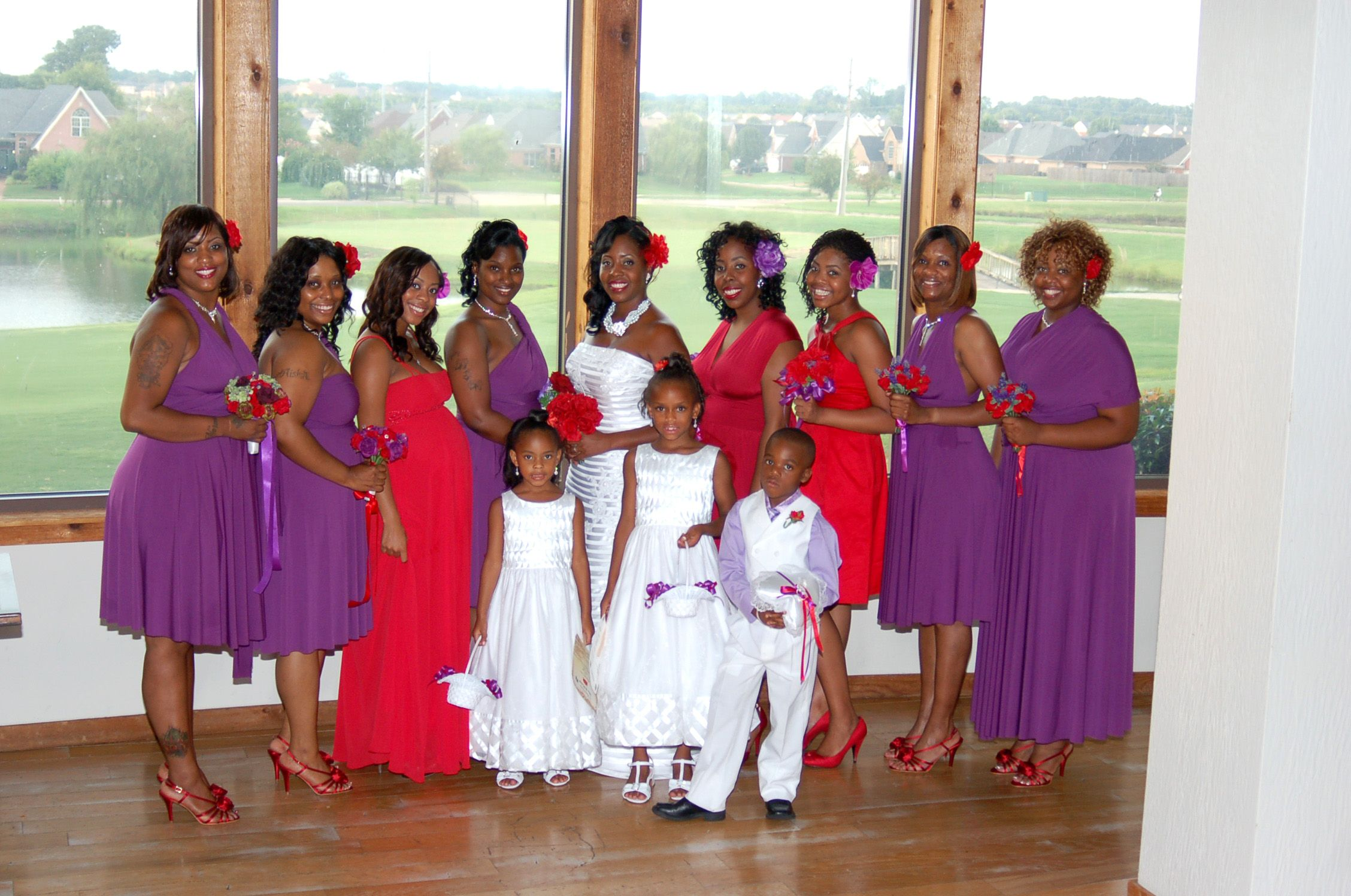 Red And Purple Wedding Party Red Grey Wedding Red Wedding Theme