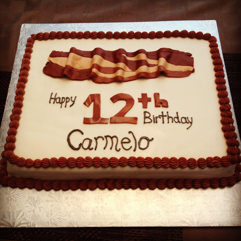 Bacon Themed Cake Vanilla Cake With Vanilla Cream Filling