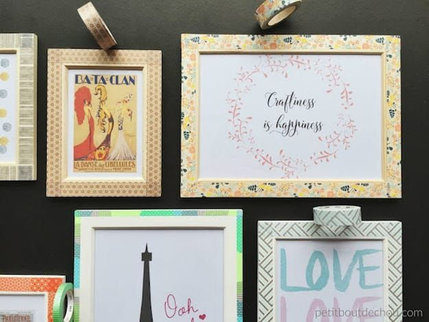 Washi Tape Frames | Easy DIY Wooden Picture Frames For Teens | DIY Projects
