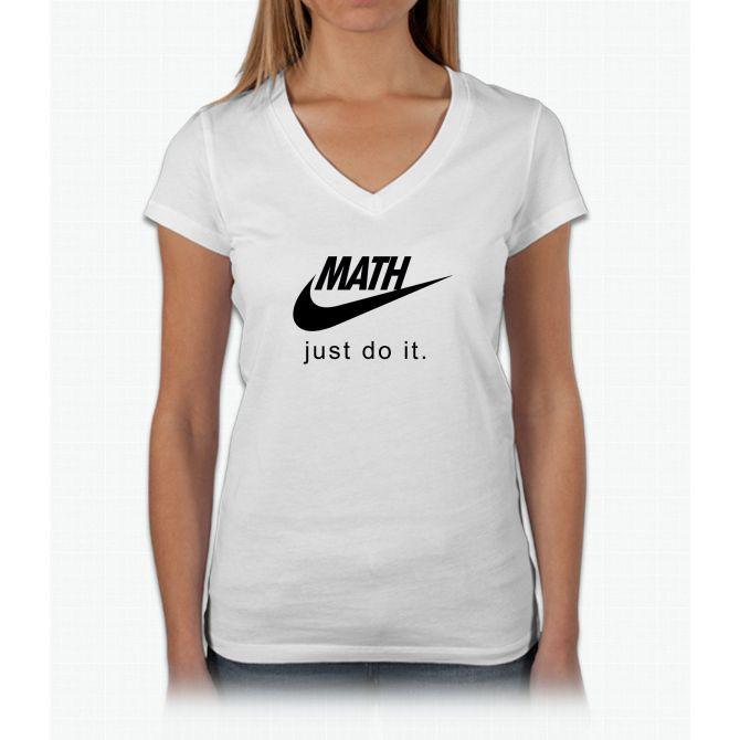 Math Womens V-Neck T-Shirt