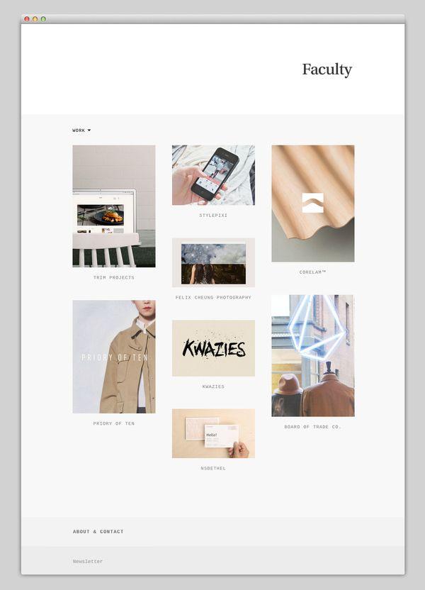 Faculty Minimal Web Design Web Design Website Layout Inspiration