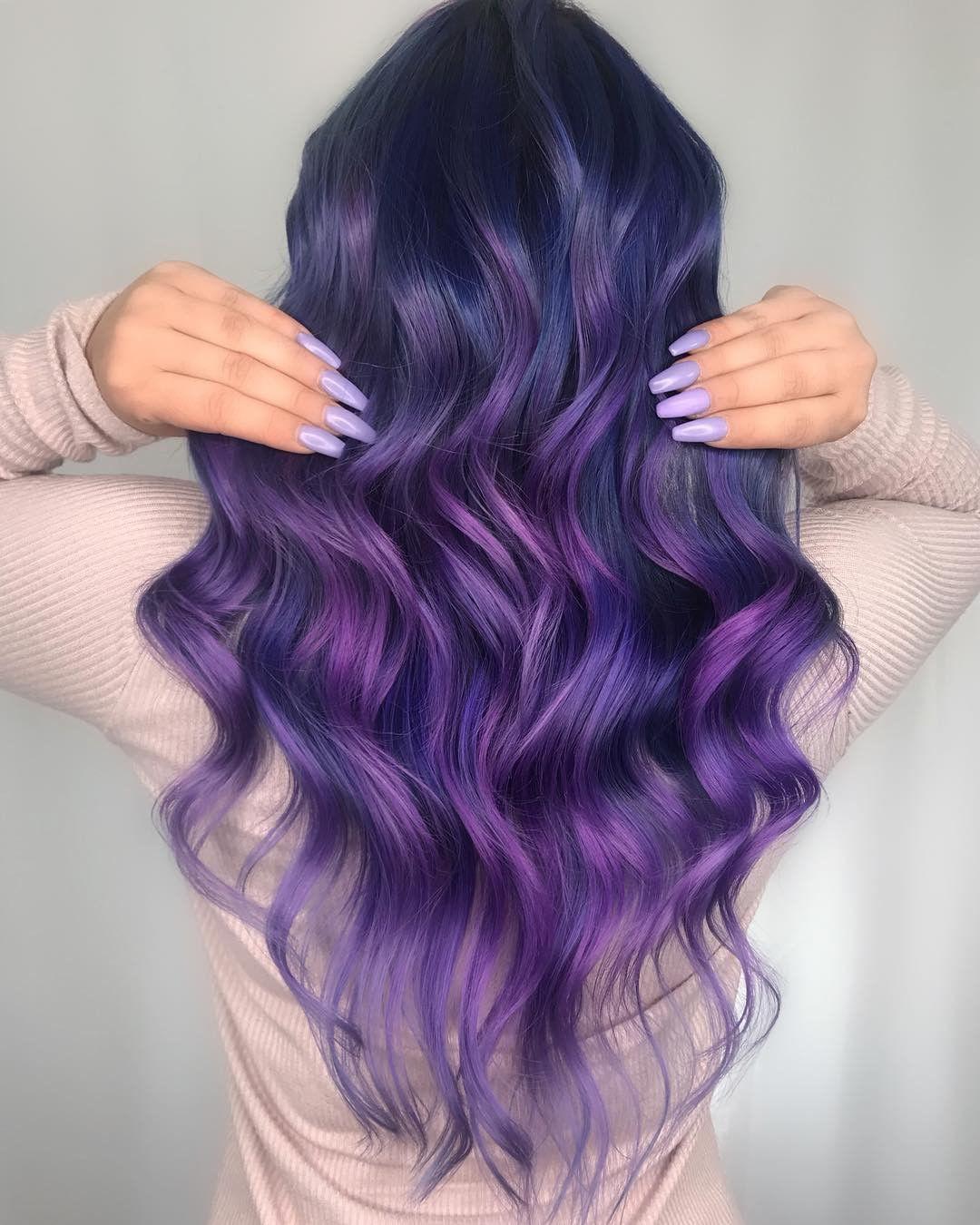 63 Purple Hair Color Ideas To Swoon Over Violet Purple Hair Dye Tips: VIVID VELVET Hair By @kimberlytayhair Lightener