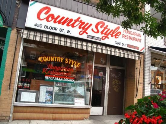 Country Style Hungarian Restaurant  450 Bloor St W, Toronto, Ontario, Canada (The Annex)  2012
