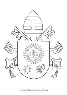 pope francis coat of arms colouring page