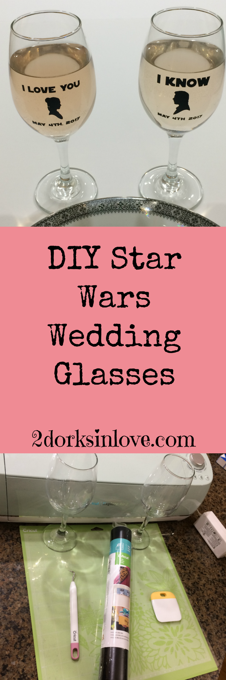 Make These Star Wars Wedding Glasses to Toast Your Geeky Love Story ...