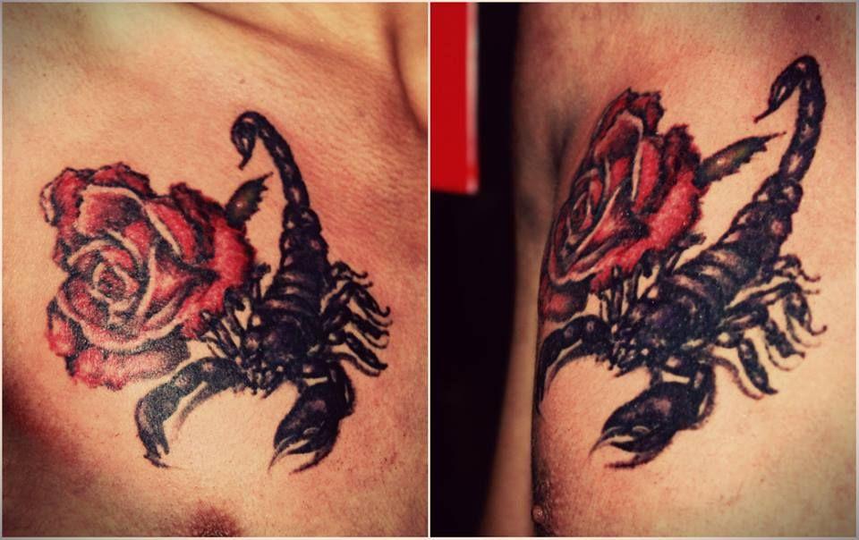 39++ Astonishing Scorpion rose tail tattoo image HD