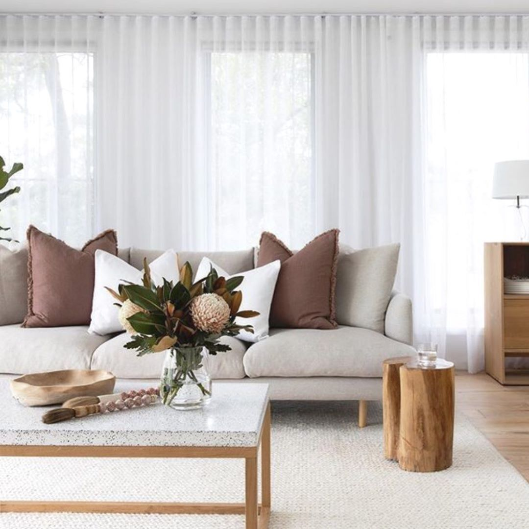 Loungelovers On Instagram A Beautiful Refined Neutral Palette This Harmonious Design Created In This Open Plan Living In 2020 Open Plan Living Living Spaces Home
