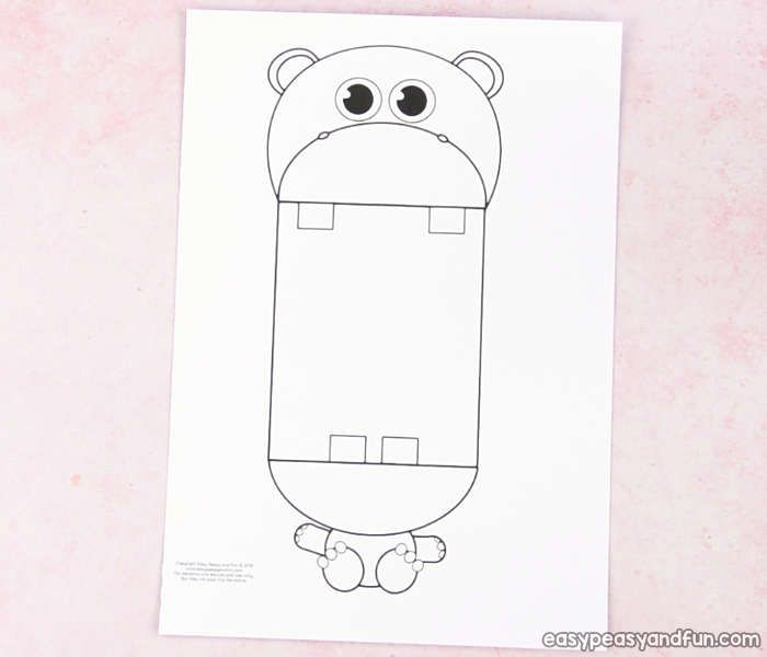 Surprise Big Mouth Hippo Printable Dinosaur coloring