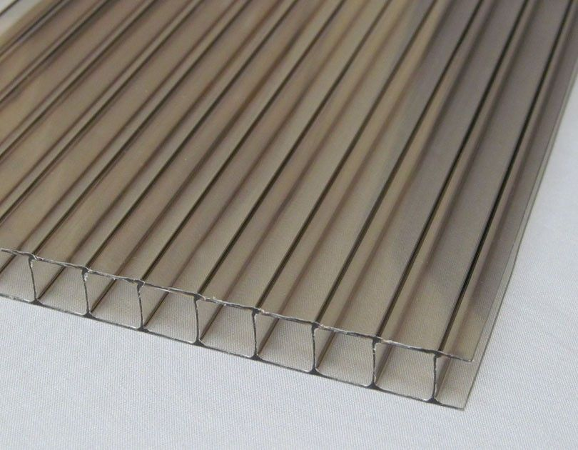 10mm Twin Wall Thermoclear Polycarbonate Panel Bronze Polycarbonate Panels Polycarbonate Bronze