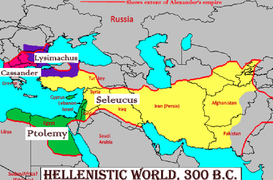 Map of the hellenistic world from greece to pakistan map of the hellenistic world from greece to pakistan gumiabroncs Images