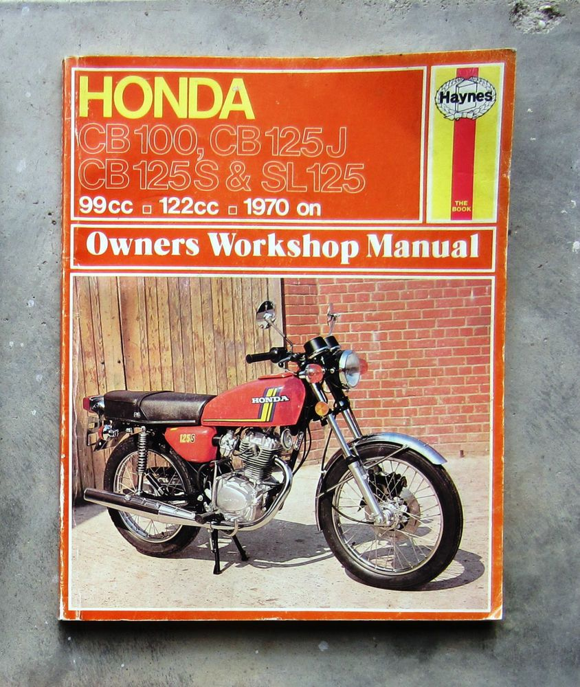 HONDA CB125 Workshop Repair Service Manual CB100 SL125 CB CD 100 CD125 SL  CL 100 #