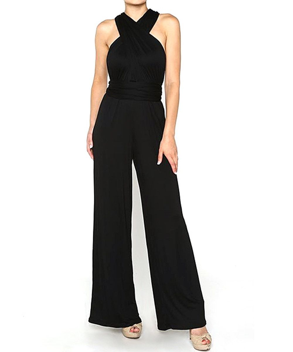 Love this Stanzino Black Halter Jumpsuit by Stanzino on #zulily! #zulilyfinds