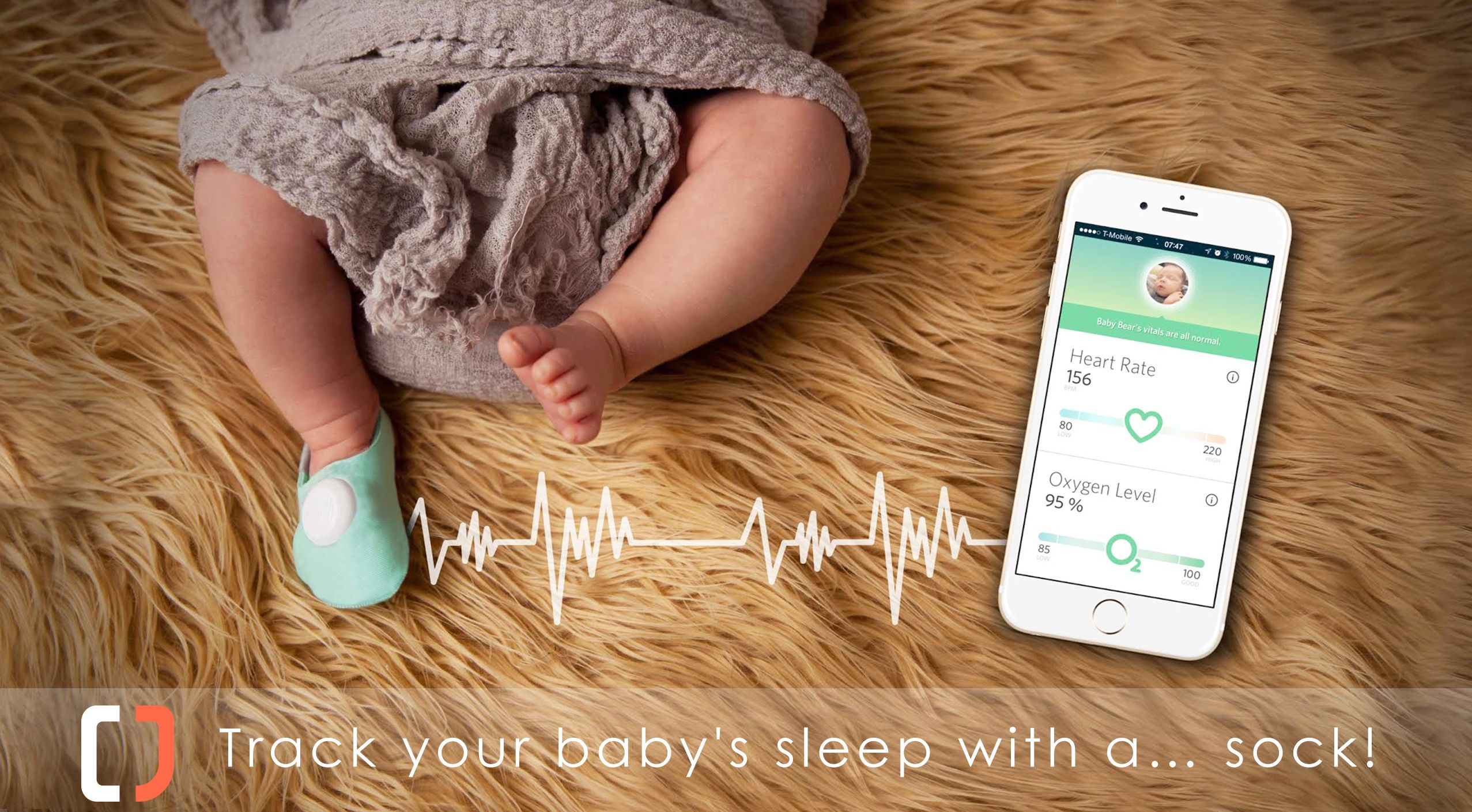 Track your baby s sleep with a… sock After you got the baby to
