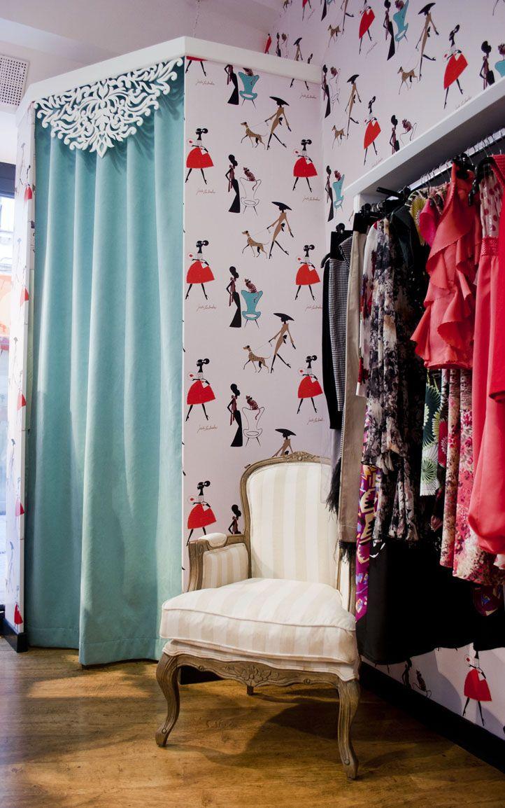 totally love the wallpaper | Ideas tienda | Pinterest | Deco ...