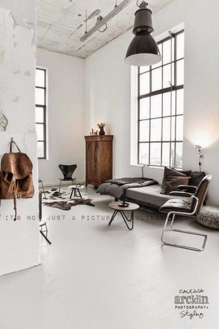 Scandinavisch interieur - industrieel interieur - naturel | Wohnen ...