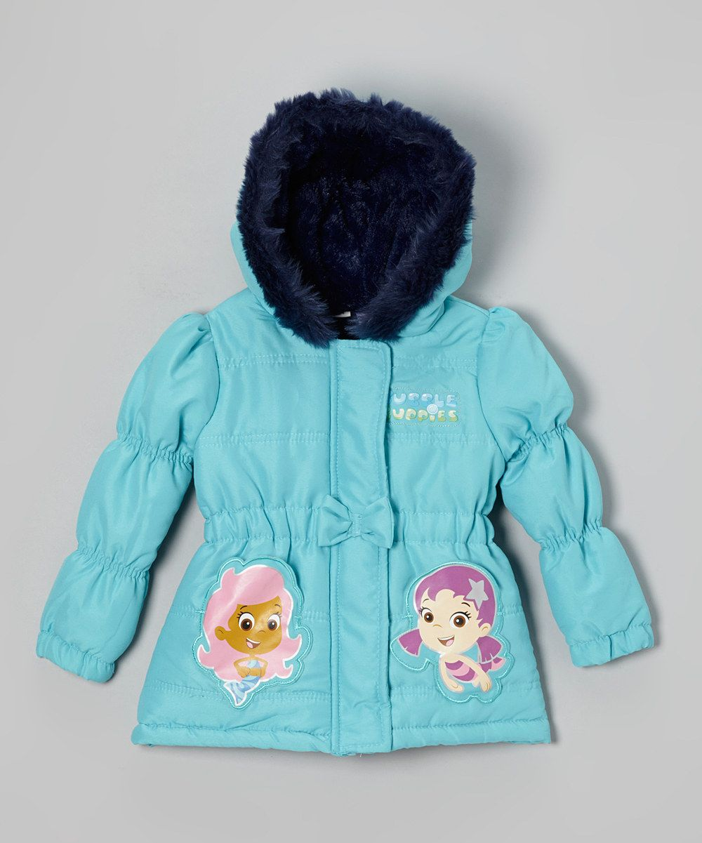 5c0453ac36f3 Look at this Turquoise Bubble Guppies Puffer Coat - Toddler