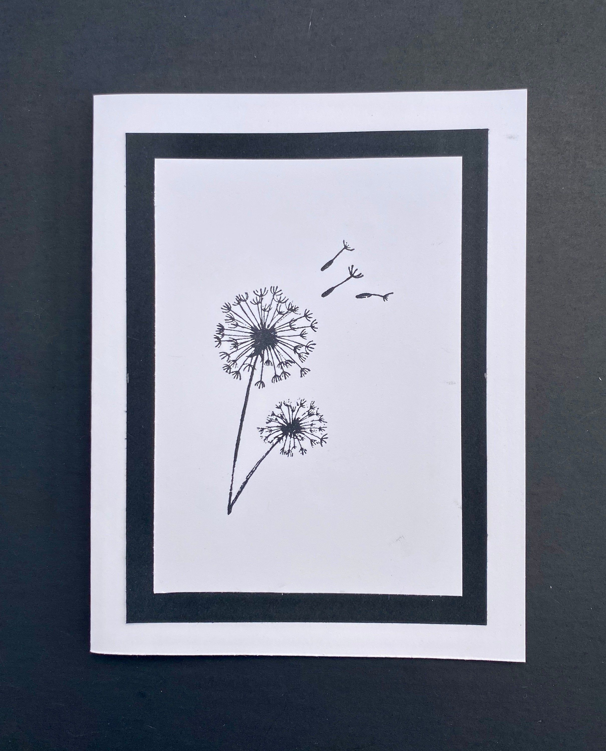 Dandelion Note Cards Black And White Blank Note Cards With Etsy In 2021 Note Card Gifts Blank Note Cards Note Cards Handmade