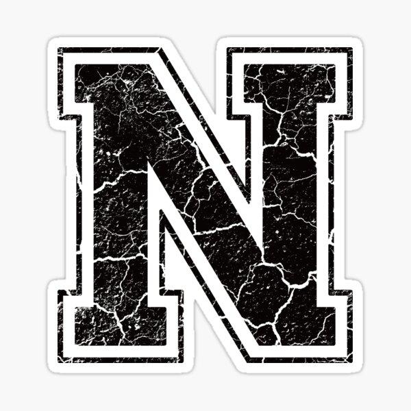 Letter N Stickers Alfabet Huruf Seni Buku
