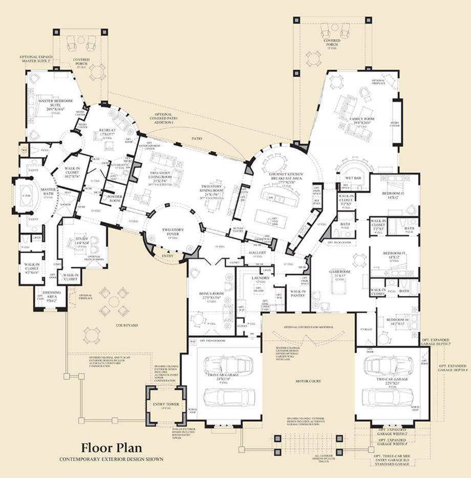 Villarica At Saguaro Estates Luxury New Homes In Scottsdale Az Dream House Plans Floor Plans How To Plan