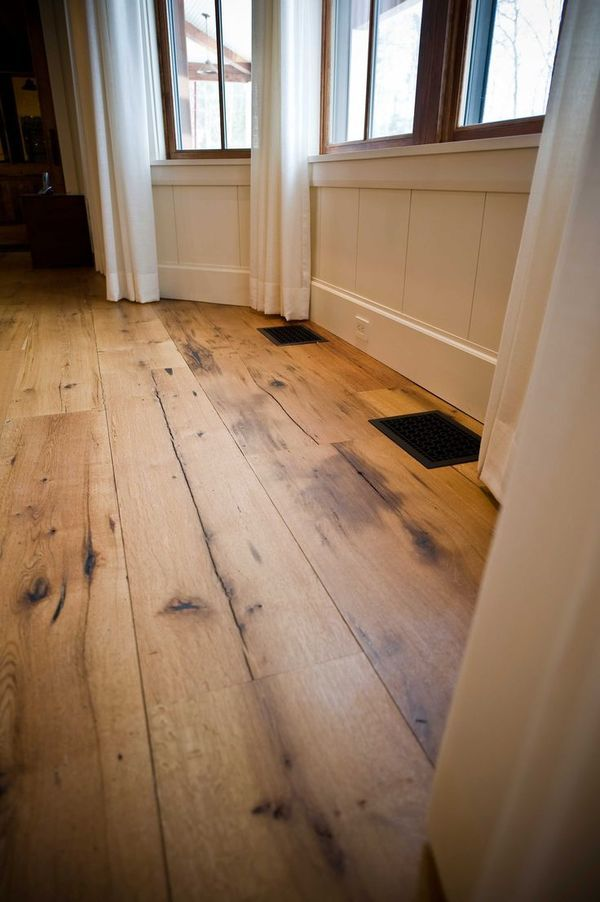 Ready To Install Reclaimed Wood Floor Rustic Oak Floor Wide Plank