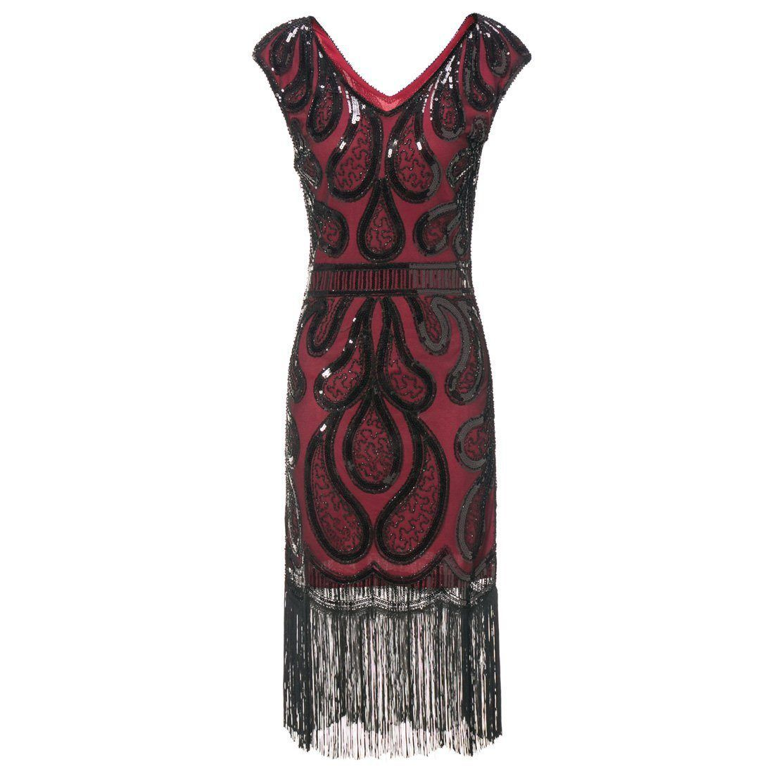 Great Gatsby Dresses S Fashion Sequined Art Deco