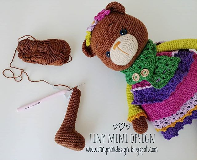 Amigurumi Balerin Bebek Yapılışı- Amigurumi Ballerina Doll Free Pattern - Tiny Mini Design #littledolls
