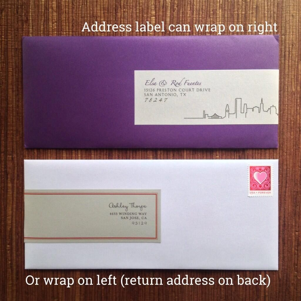Wedding #invitation #envelope #labels: all-in-one return & guest ...